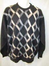 Hardenglen 100% Cashmere Made in Scotland Gray Crew neck Sweater Men's L