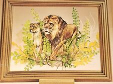 Vintage Follage Kit Lions Frame Plants Foliage Cunningham Nature Scene #12715