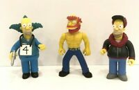 World of Simpsons Action Figures Playmates Toys - Homer, Willie, Krusty