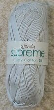 Wendy Supreme Luxury 100 Cotton Double Knit Wool 100g Combined Dove - Shade 1961
