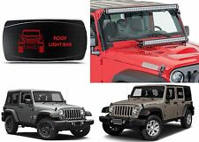 CH4x4 Red LED Rocker Switch Roof Light Bar For 2007-2017 Jeep Wrangler New USA
