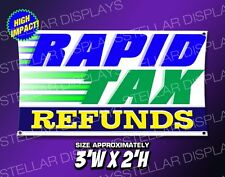 Rapid Tax Refunds Open Banner Display Poster E-file Taxes Grand Opening Sign Irs