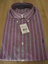 Genuine Polo Ralph Lauren Mens Custom Fit L/S Shirt Violet Stripe Large BNWT