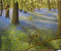 Original Oil Painting 'Dreams of Springtime' Bluebells Woods