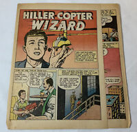 1946 three page cartoon story ~ STANLEY HILLER helicopters