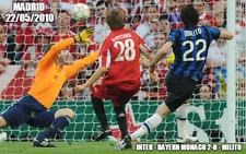 Quadro con foto gol di Milito in finale Champions 2010 Inter Bayern Monaco
