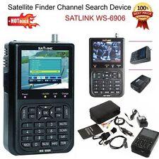 "3.5 ""WS-6906 Satellite SIGNAL FINDER LCD SATLINK DVB-S FTA data Digital Meter IT"