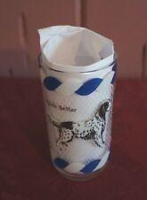 Vintage Big Top Peanut Butter English Setter Dog Drinking Glass Tumbler Blue