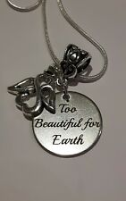Baby Memorial Charm Loss/Miscarriage/grief sterling silver necklace keepsake