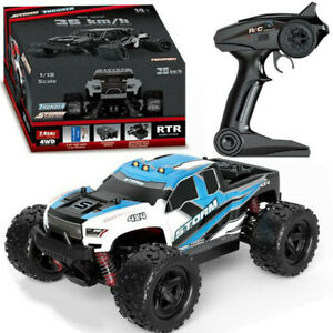 New 40+MPH High Speed 1/18 Scale Car 2.4G 4WD Fast Remote Controlled Large Truck