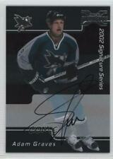 2002-03 ITG Be A Player Signature Series 2001-02 Buybacks Adam Graves #168 Auto