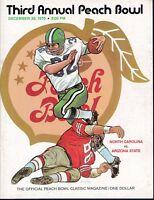 North Carolina vs Arizona State 1970 Peach Bowl college football program