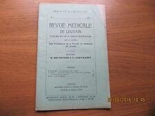 Revue Médicale de Louvain N°3 1933 Sur les insulines