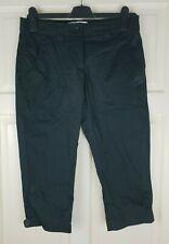 NIKE Ladie's Black Bermuda Pants Long Stretch Shorts Size UK 6 / W 38