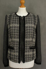 MAXMARA WEEKEND Ladies Monochrome JACKET / COAT Size UK 10 - IT 42 MAX MARA