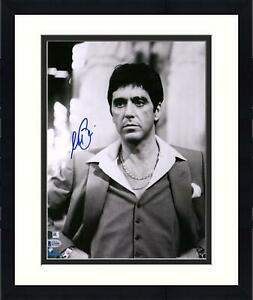 """Framed Al Pacino Scarface Autographed 11"""" x 14"""" in Suit Photograph BAS"""