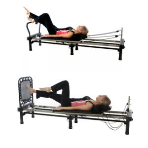 Stamina AeroPilates 298 Pilates Reformer W Toe Bar Stand & Rebounder