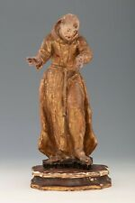 Antique Baroque Wood statue - Original paintiing and golden painted - HD Picture