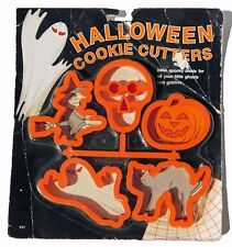 Halloween Cookie Cutters Plastic Witch Skull Pumpkin Ghost Cat New