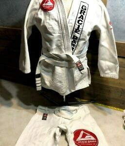 Gracie Barra Kimono Edition GI Jim-Jitsu Karate Uniform Set Mens A2 Medium EUC