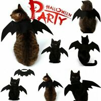 Dog Cat Cosplay Clothing Costume Black Bat Wing Halloween Party Pets Gifts Funny