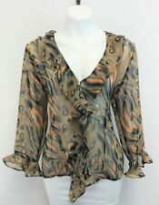 Selene Sport Women Shirt, Size Medium, brown, gray, polyester