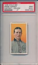Frank Chance 1909-11 T206  Portrait CYCLE Back ! PSA 9 (oc)  MINT