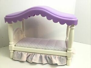 Little Tikes Big Dollhouse Canopy Four Poster Bed 5512 Barbie Size 1993 Vintage