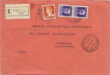 P7875   Salerno, aquara, raccomandata per Colleferro (Rm), 1941