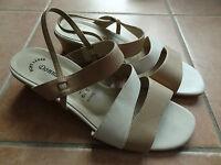 creme-beige Damen Schuhe Sandalen Donna Grazia - Ginny 6 ½ 39 Riemchen-Schuhe
