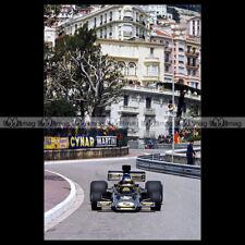 #pha.013532 Photo RONNIE PETERSON LOTUS GP F1 1975 GRAND PRIX MONACO Car Auto