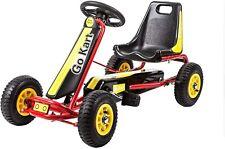 Kinbor Pedal Go Kart 4 Wheel Pedal Powered Ride On Go Cart with Adjustable Seat