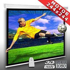 1:1 Écran motorisé pour videoprojecteur 244 x 244 cm HDTV 3D Vidéo Projection