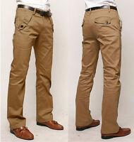 Mens Long Formal Pants Leisure Trousers Stylish Slim Fit Straight leg  Skinny