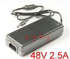 AC 100V-240V Adapter DC 48V 2.5A Switching power supply Charger 2500mA DC 5.5mm