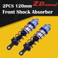 2pcs ZD Racing 120mm Front Shock Absorber Blue Damper Suspension for 1/8 HSP Car