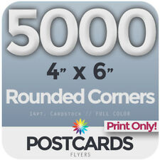"""5000 FullColor 4""""x6"""" POSTCARDS/FLYERS -Rounded Corners - PRINTING ONLY FREE SHIP"""