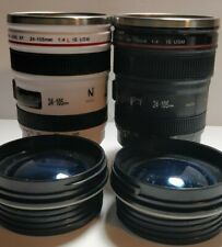 CANIAM ZOOM LENS TRAVEL MUG - 24-105MM SIZE lot of 2 Hot coffee