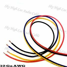 25' EACH RED, BLUE, BLACK, YELLOW - 100 ft 12 Ga AWG Primary / Remote Wire Lead