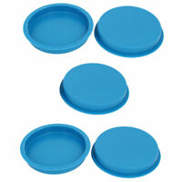 100mm Flange Mounted Tapered Hole Stoppers Waterproof Caps Blue 5pcs
