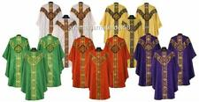 Chasubles Gothic Vestments Lot, 7 Colors Red,White,Green,Gold,Purple,Black,Rose