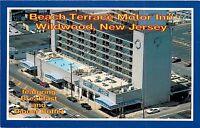 Beach Terrace Motor Inn Wildwood NJ New Jersey aerial view Rusty Rudder Postcard