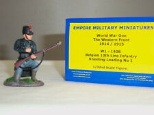 EMPIRE W1-1408 BELGIAN 10TH LINE INFANTRY KNEELING LOADING METAL TOY SOLDIER