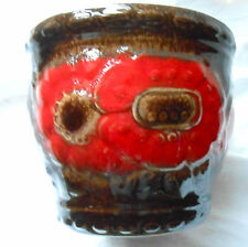 Scheurich Keramik West Germany 887-14 Sunflowers Fat Lava red German pot vgc