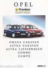 Prospekt 1992 Opel Omega Caravan Astra  Lieferwagen Combo Campo 8/92 brochure