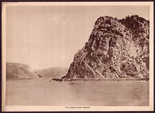 1910s Antique Vintage Germany Lorelei Rock Landscape Photo Gravure Print