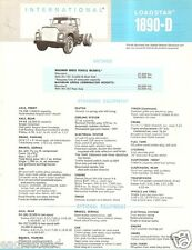 Truck Brochure - International - 1890-D - Loadstar - Blue (TB462)