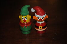 FISHER PRICE PLAY FAMILY LITTLE PEOPLE CUSTOM SANTA ERNIE & ELF BERT 1 OF A KIND