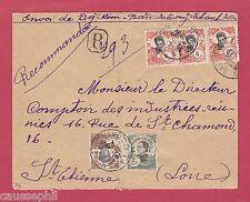 es - TANAN Indochine Lettre Recommandée de 1925 pour St-Etienne, France