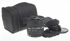 Sigma 10-20mm f/4-5.6 EX HSM DC wideangle lens f. Canon +pouch +hood +caps